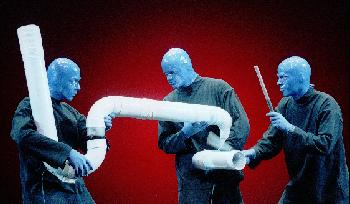 Blue Men Making Music