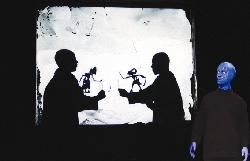 Blue Men Shadow Puppets
