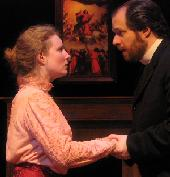 Amanda Jones as Candida, David Tillistrand as Morell  border=