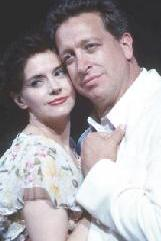 Christianne Tisdale as Nellie Forbush and Peter Samuel as Emile deBeque