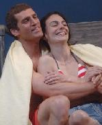 Jeremy Davidson as  Leo Hart and  Annie Parisse as  Holly Dancer in Coastal Disturbances