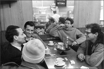 Larry Rivers, Jack Kerouac, David Amram and Allen Ginsberg