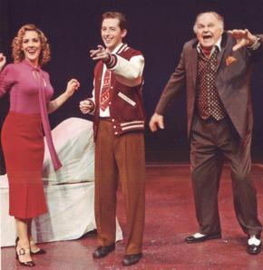 Janine LaManna, Josh Grisetti and George S. Irving in Enter Laughing
