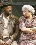 Linda Gravatt as Ruby and Russell Hornsby as King