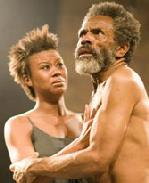 Christina Sajous and Andre De Shields in King Lear