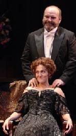 Jack Willis as Ben and Jacqueline Antaramian as Regina in The Little Foxes