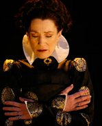 Harriet Walter as Queen Elizabeth