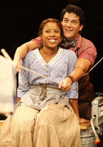 Eleasha Gamble and Nicholas Rodriguez in Oklahoma!