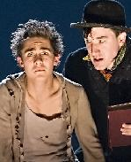 Michael Wartella (as Oliver) and Carson Elrod (as The Artful Dodger)  in Oliver Twist