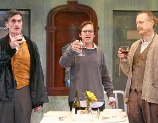 Roger Rees, Rob Campbell & Mark Blum in The Physicists