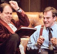 Brad Oscar as  Max Bialystock and   Roger Bart  as   Leo Bloom