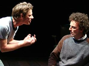 Jamie Harris (L) and John Keating (R) as Billy and Shane