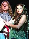 Christopher Sieber as Sir Dennis Galahad &  Sara Ramirez as The Lady of the Lake