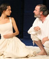Elizabeth Waterston & Mandy Patinkin as Prospero and Miranda in The Tempest