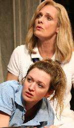 Jane (Kelly Hutchinson) and Nancy (Lisa Emery) in The Unmentionables